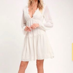 Lulu's Midi White Dress
